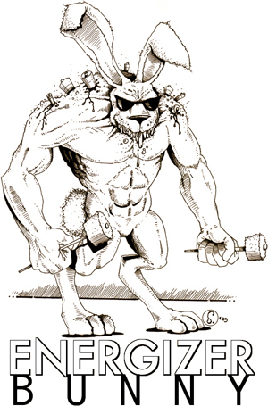 Image result for evil energizer bunny